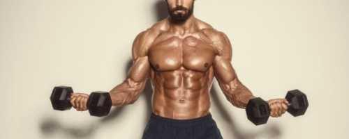 Упражнения с гантелями: упражнения с гантелями дома для мужчин