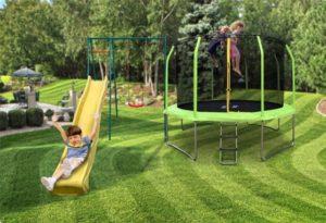 Детская площадка и батут для дачи