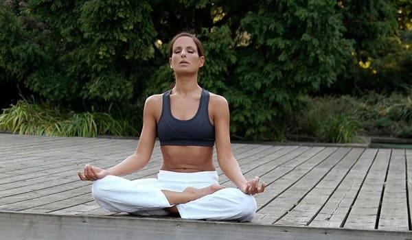 Медитативная поза лотоса