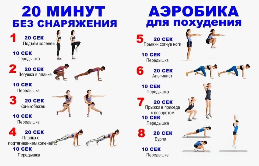 Упражнения аэробики для похудения